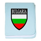 Bulgaria Flag Patch baby blanket