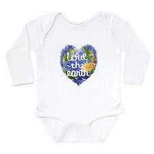 Love the Earth Long Sleeve Infant Bodysuit