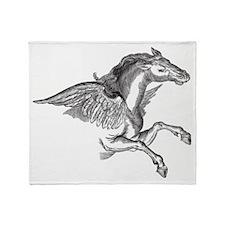 Pegasus Illustration Throw Blanket