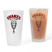 Snakes On A Plane Pint Glass
