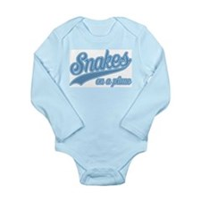Retro Snakes On A Plane Long Sleeve Infant Bodysui