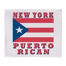 New York Puerto Rican Throw Blanket