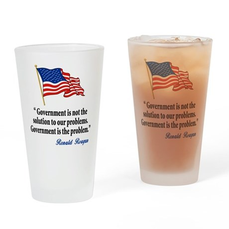 Tea party Revolt Pint Glass