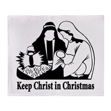 Keep Christ in Christmas Throw Blanket