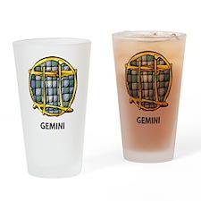 Gemini Symbol Pint Glass