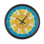 Sun Large Wall Clock