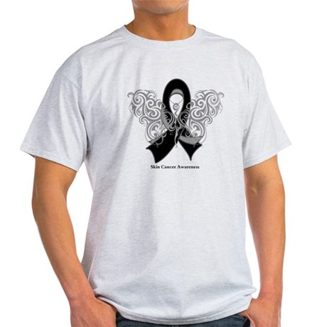 Skin Cancer Tribal Butterfly Light T-Shirt