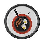 Breakfast Large Wall Clock