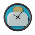 Toast Large Wall Clock