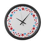 Stars Large Wall Clock