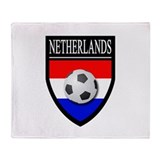 Netherlands Soccer Throw Blanket