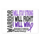 Hodgkin's Lymphoma Warrior Postcards (Package of 8
