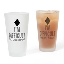 I'm Difficult Ski Colorado Drinking Glass
