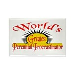 Procrastinator Rectangle Magnet (100 pack)