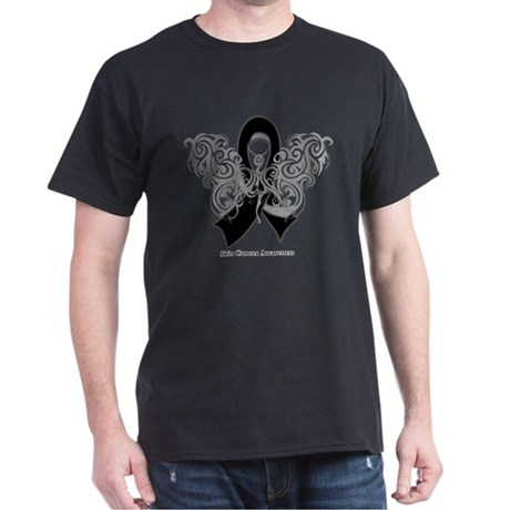 Skin Cancer Tribal Butterfly Dark T-Shirt