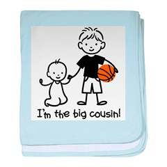 Big Cousin - Stick Characters baby blanket