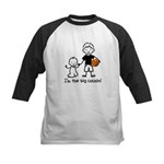 Big Cousin - Stick Characters Kids Baseball Jersey