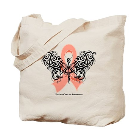Uterine Cancer Tribal Tote Bag