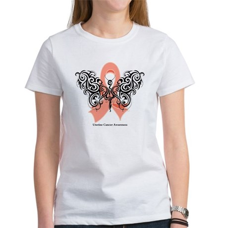 Uterine Cancer Tribal Women's T-Shirt