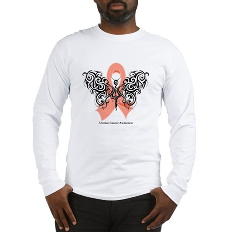 Uterine Cancer Tribal Long Sleeve T-Shirt