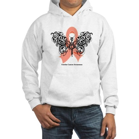 Uterine Cancer Tribal Hooded Sweatshirt