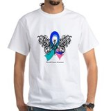 Thyroid Cancer Tribal Butterfly Shirt