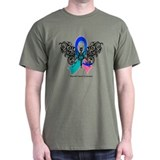 Thyroid Cancer Tribal Butterfly T-Shirt