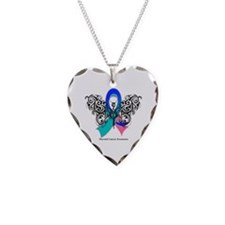 Thyroid Cancer Tribal Butterfly Necklace