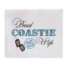 Proud Coast Guard Wife Throw Blanket