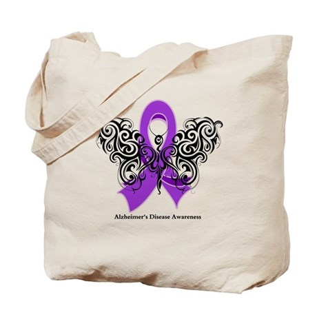 Alzheimer's Disease Tribal Tote Bag