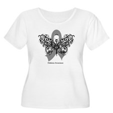 Diabetes Tribal Butterfly T-Shirt