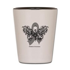 Diabetes Tribal Butterfly Shot Glass