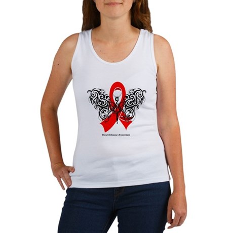 Heart Disease Tribal Butterfly Women's Tank Top