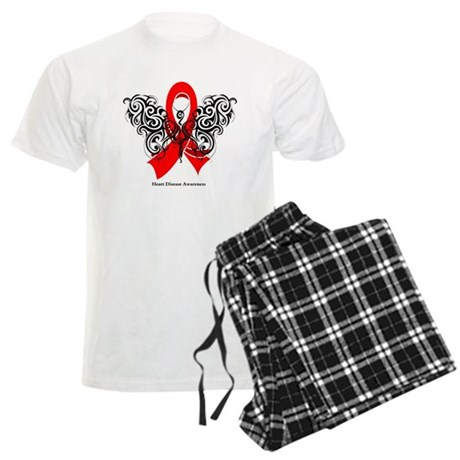 Heart Disease Tribal Butterfly Men's Light Pajamas