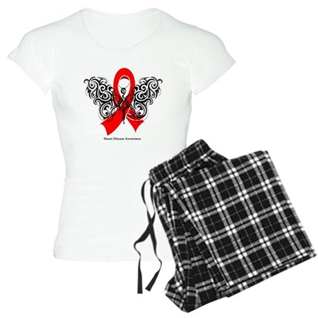 Heart Disease Tribal Butterfly Women's Light Pajam