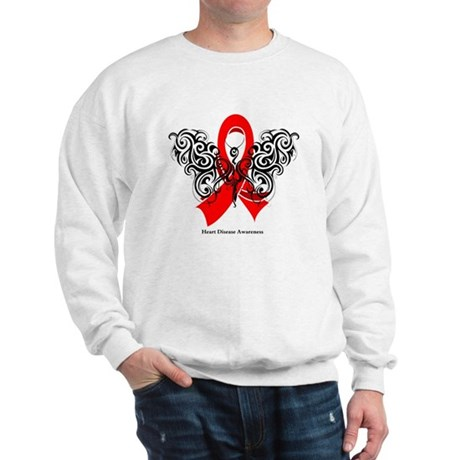 Heart Disease Tribal Butterfly Sweatshirt