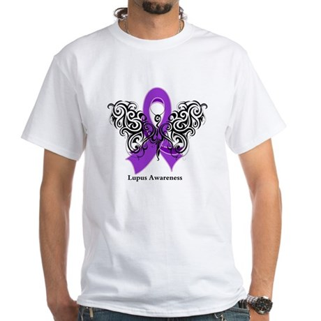 Lupus Tribal Butterfly White T-Shirt