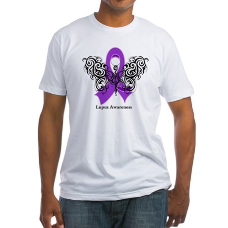 Lupus Tribal Butterfly Fitted T-Shirt