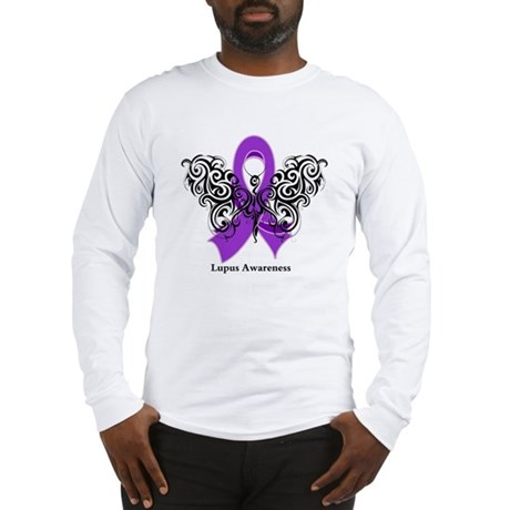 Lupus Tribal Butterfly Long Sleeve T-Shirt
