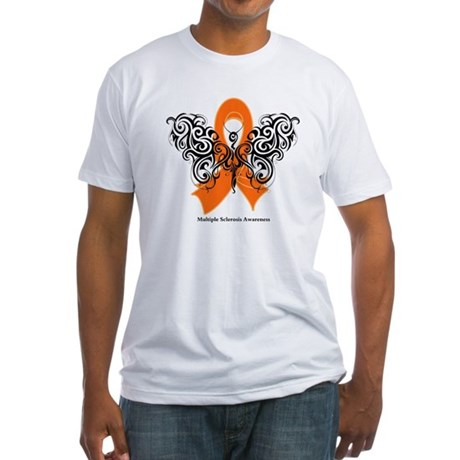Multiple Sclerosis Tribal Fitted T-Shirt