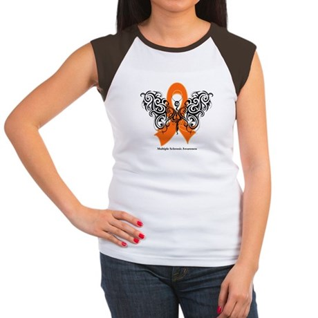 Multiple Sclerosis Tribal Women's Cap Sleeve T-Shi