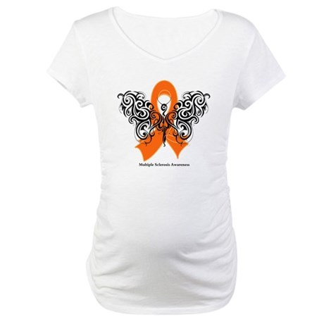 Multiple Sclerosis Tribal Maternity T-Shirt