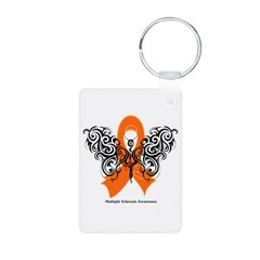 Multiple Sclerosis Tribal Aluminum Photo Keychain
