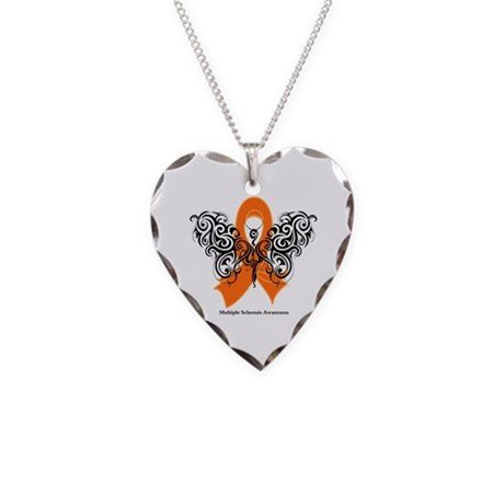 Multiple Sclerosis Tribal Necklace Heart Charm