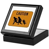 Immigrant Crossing Sign Keepsake Box
