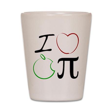 I Love Apple Pi Shot Glass