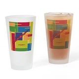 Oboe Colorblocks Pint Glass