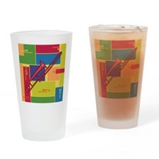 Trombone Colorblocks Pint Glass