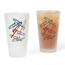 Colorful Trombones Pint Glass