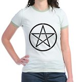 Star Pentacle Inside Circle T